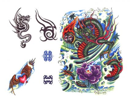 Dragons in Color Dragon Images Tattoo in Color