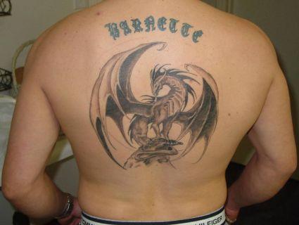 european dragon back tattoo tattoo from itattooz. Black Bedroom Furniture Sets. Home Design Ideas