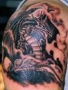 european dragon pics tattoo on shoulder