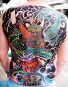 japanese warrior and dragon tats