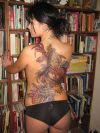 japanese dragon tats on sexy girl's back