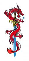 dragon and sword pic tattoo free