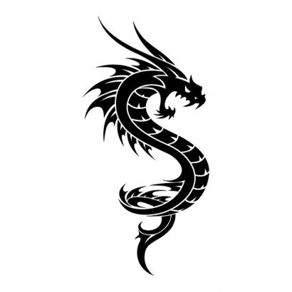 tribal dragon pic of tattoos tattoo from itattooz. Black Bedroom Furniture Sets. Home Design Ideas