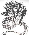 tribal dragon image of tattoos