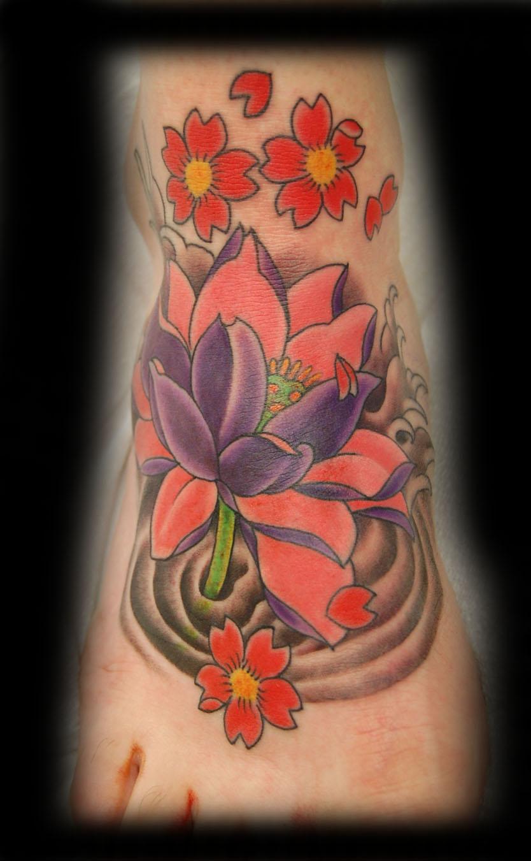 Lotus Feet Tattoos