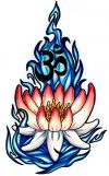Lotus tattoo design pics with om