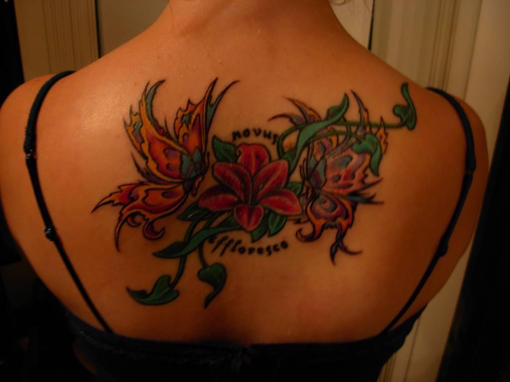 Butterfly and flower tattoo izmirmasajfo
