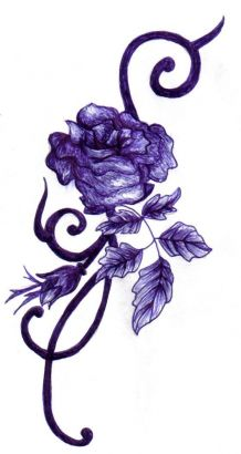 purple rose tattoo tattoo from itattooz. Black Bedroom Furniture Sets. Home Design Ideas