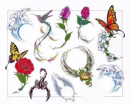 rose bird and animal tattoo tattoo from itattooz. Black Bedroom Furniture Sets. Home Design Ideas