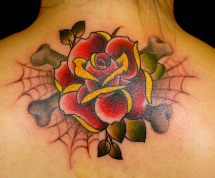 Red Rose On Neck