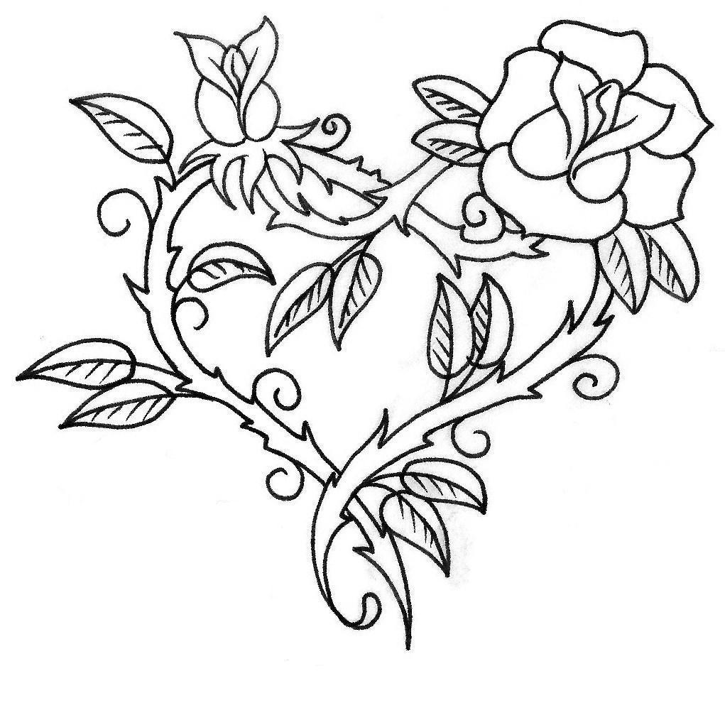 White Rose Tattoo Drawing