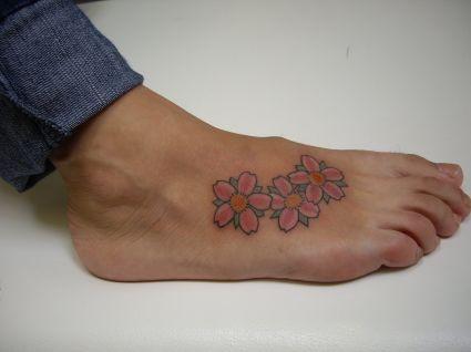 cherry blossom flower tattoo tattoo from itattooz. Black Bedroom Furniture Sets. Home Design Ideas