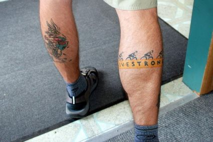 Cartoon Tattoo On Leg