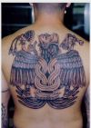 aztec tattoo on back