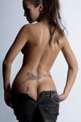 Lower Back Girl Tattoo