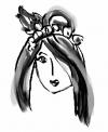 Girl Face Tattoo Design