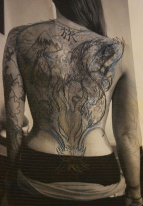 Women Full Back Tattoo