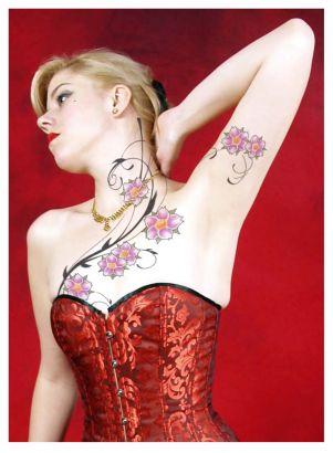 Women chest tattoo pics tattoo from itattooz for Pretty breast tattoos