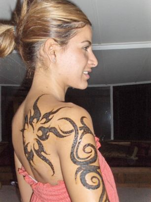 Women With Arm Tat Image