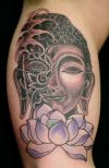 Buddha tattoo design on hand