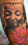 buddha and flower pic tattoo