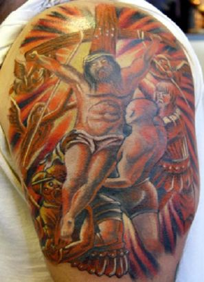 Jesus Pictures Tattoo On Arm