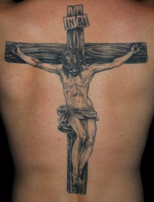 Jesus Tattoo For Back