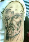 jesus tattoo image on arm