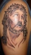jesus tattoo pic on arm