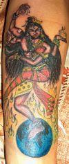 Religious Tattoo Dancing Shiva