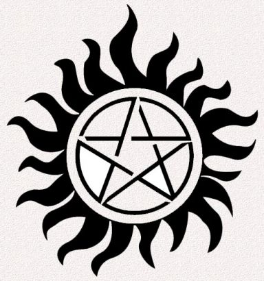 Sun And Pentagram Tattoo