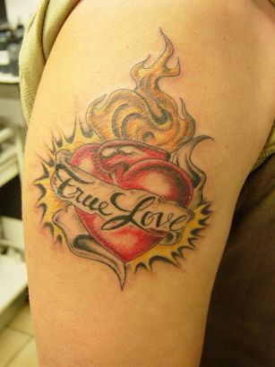Love Heart Tattoo On Arm