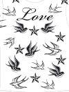 love and birds free tattoo