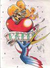 love heart tattoo image