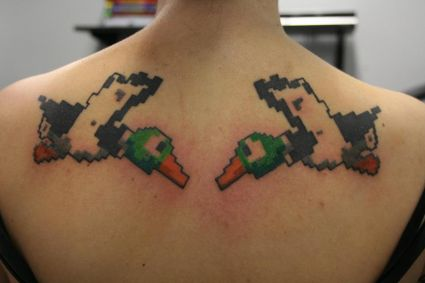 Geek Back Tattoo