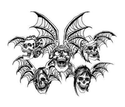 Skull And Bat Wing Tat