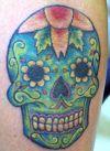 green skull tat pics
