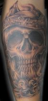 skull aztec tat