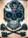 cross bone and skull tat