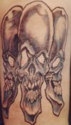 three skull tat