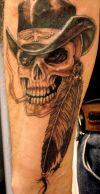 skull with cap tats image