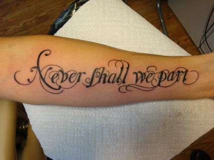 Cursive Text Tattoo