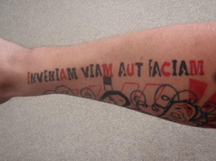 Color Text Tattoo