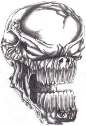 demon skull tattoo tattoo from itattooz. Black Bedroom Furniture Sets. Home Design Ideas