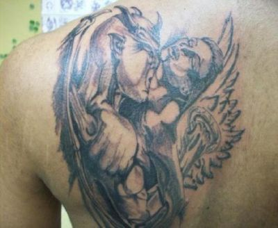 Tattoo Images of Angels And Demons Angels And Demons Love Tattoo