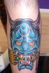 demon face tattoos pics