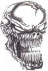 demon skull tattoo