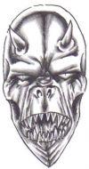 free demon face tattoos
