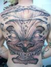 large demon tattoo on full back