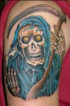 grim reaper tattoo pics on arm
